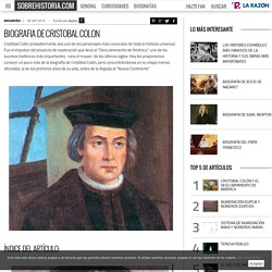 Biografia de Cristobal Colon