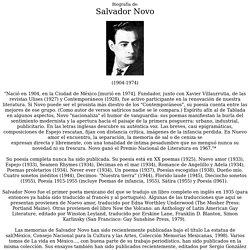 Biografia de Salvador Novo