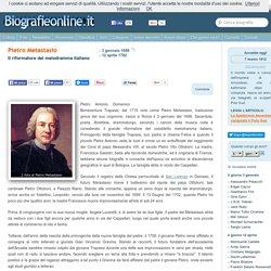 Biografia di Pietro Metastasio