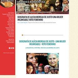 Biografia de Alicia Moreau de Justo Una Mujer Incansable Voto Femenino