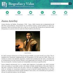 Biografia de Juana Azurduy