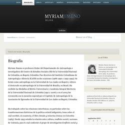 Myriam Jimeno - Blog