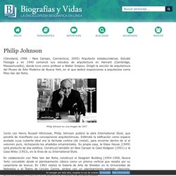 Biografia de Philip Johnson