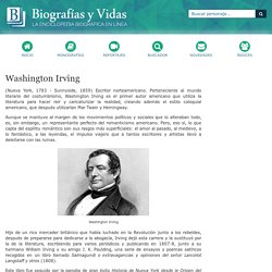 Biografia de Washington Irving