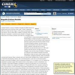 Biografie Cristiano Ronaldo - Cristiano Ronaldo - CinemaRx