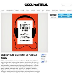 Biographical Dictionary of Popular Music