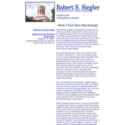 Bob Siegler's Biographical Information