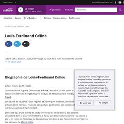 Louis-Ferdinand Céline : biographie, actualités et émissions France Culture