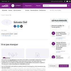 Salvador Dalí : biographie, actualités et émissions France Culture