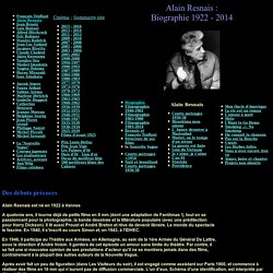 Biographie Alain Resnais