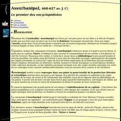 Biographie d'Assurbanipal