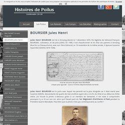 Biographie du soldat BOURSIER Jules Henri - Histoires de Poilus
