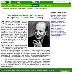 Biographie de Constantin Carathéodory