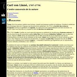 Biographie de Carl von Linné
