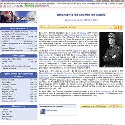 Biographie de Charles de Gaulle