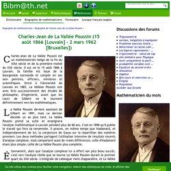 Biographie de Charles-Jean de La Vallée Poussin