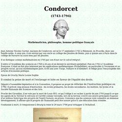 Biographie de Condorcet