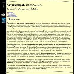 Biographie d'Assurbanipal
