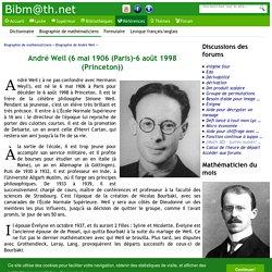 Biographie de André Weil