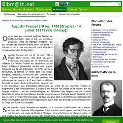 Biographie de Augustin Fresnel