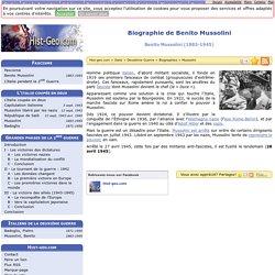 Biographie de Benito Mussolini