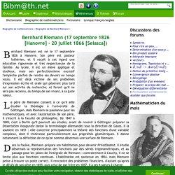 Biographie de Bernhard Riemann