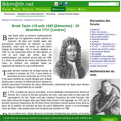 Biographie de Brook Taylor