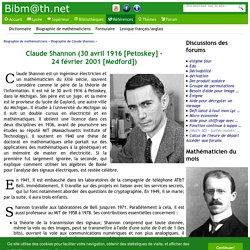 Biographie de Claude Shannon