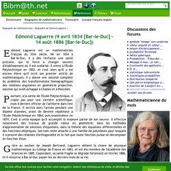 Biographie de Edmond Laguerre