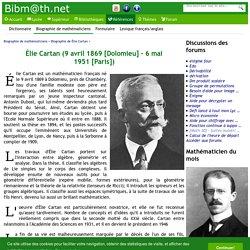 Biographie de Élie Cartan