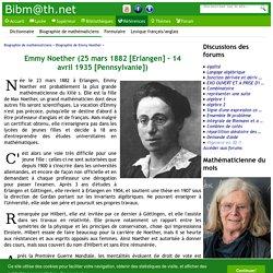 Biographie de Emmy Noether