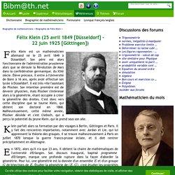Biographie de Félix Klein