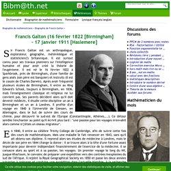 Biographie de Francis Galton