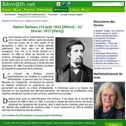 Biographie de Gaston Darboux