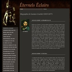 Biographie de Gustave Courbet
