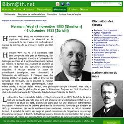 Biographie de Hermann Weyl