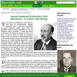 Biographie de Jacques Hadamard