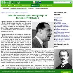 Biographie de Jean Dieudonné