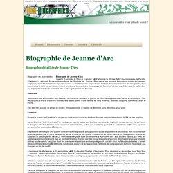 Biographie de Jeanne d'Arc