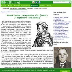 Biographie de Jérôme Cardan
