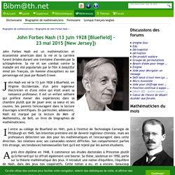 Biographie de John Forbes Nash