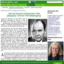 Biographie de John Von Neumann