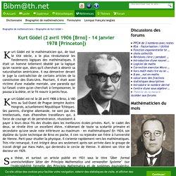 Kurt Gödel (2 avril 1906 - 14 janvier 1978)