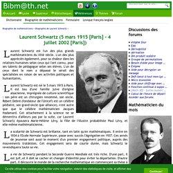 Biographie de Laurent Schwartz