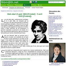 Biographie de Niels Abel