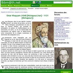 Biographie de Omar Khayyam