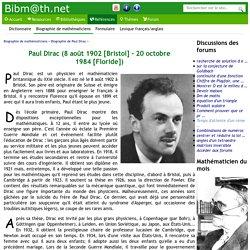 Biographie de Paul Dirac