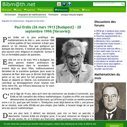 Biographie de Paul Erdös
