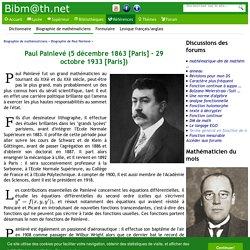 Biographie de Paul Painlevé