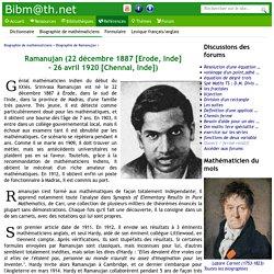 Biographie de Ramanujan